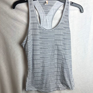Lucy Athletic Racer Back Tank Top Striped